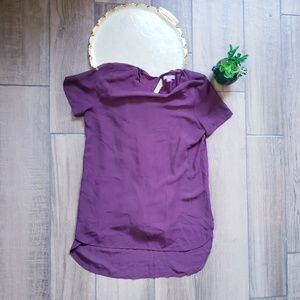 Vince Camuto short sleeve long blouse Xs